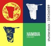 namibia grunge retro maps  ... | Shutterstock .eps vector #334266089