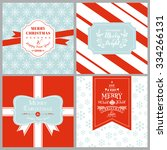vintage christmas tags or cards ... | Shutterstock .eps vector #334266131