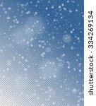 seamless vector white snowfall... | Shutterstock .eps vector #334269134