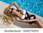 beautiful blond hair sexy woman ... | Shutterstock . vector #334274291