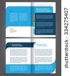 vector empty bi fold brochure... | Shutterstock .eps vector #334275407