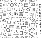different line style icons... | Shutterstock .eps vector #334279721