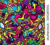 60s hippie psychedelic art...   Shutterstock .eps vector #334285541