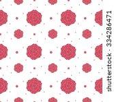 pink rose pattern background... | Shutterstock .eps vector #334286471