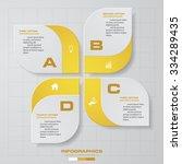 4 Steps Design Infographic...