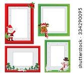 vector christmas border ...   Shutterstock .eps vector #334290095