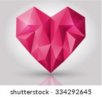 vector crystal heart shape with ... | Shutterstock .eps vector #334292645