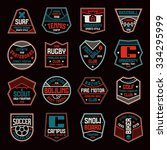 set of sports badges. soccer ... | Shutterstock .eps vector #334295999