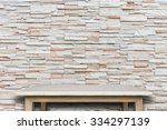 empty top of natural stone... | Shutterstock . vector #334297139