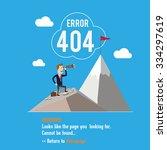 404 error page. vector... | Shutterstock .eps vector #334297619