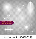 glowing lights effect  flare ... | Shutterstock .eps vector #334305251