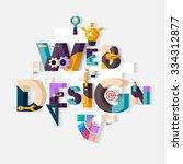 web design concept. flat design.
