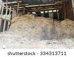 old straw storage  hayloft | Shutterstock . vector #334313711