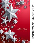 christmas and new years red... | Shutterstock .eps vector #334319849