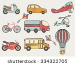 hand drawn transportation icon... | Shutterstock . vector #334322705