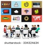 technology social media... | Shutterstock . vector #334324634