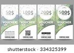 set of modern gift voucher... | Shutterstock .eps vector #334325399