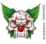 skull sketch design on... | Shutterstock .eps vector #334325951