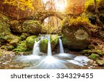beautiful waterfalls in the... | Shutterstock . vector #334329455