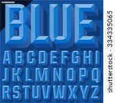 vector 3d blue condense beveled ...   Shutterstock .eps vector #334335065