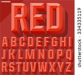 vector 3d red condense beveled... | Shutterstock .eps vector #334335119