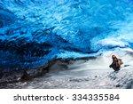 man traveler enjoying exotic... | Shutterstock . vector #334335584