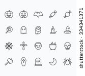 halloween icons for web and... | Shutterstock .eps vector #334341371