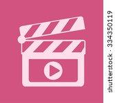 film maker clapper board  icon. ... | Shutterstock .eps vector #334350119