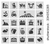 farm vector logo design... | Shutterstock .eps vector #334352285