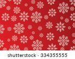 snowflakes on red background  ...   Shutterstock . vector #334355555