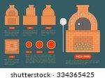 pizza oven made from bricks...   Shutterstock .eps vector #334365425