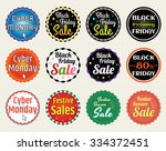 set of retro promotion discount ... | Shutterstock .eps vector #334372451