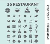 restaurant  icons  signs vector ... | Shutterstock .eps vector #334373015