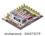 vector isometric icon or... | Shutterstock .eps vector #334373279
