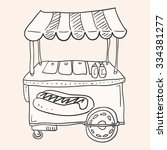 hotdog stand   illustration of... | Shutterstock .eps vector #334381277