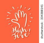 high five  greeting card. | Shutterstock .eps vector #334388141