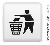 garbage recycling icon   trash... | Shutterstock .eps vector #334388711