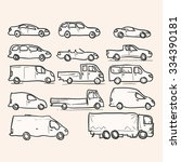 isolated vehicle types   set of ... | Shutterstock .eps vector #334390181