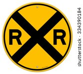 Yellow Rail Sign   Railroad...