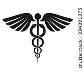 caduceus health symbol  ... | Shutterstock .eps vector #334391375