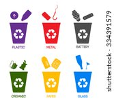 trash categories. recycle...   Shutterstock .eps vector #334391579
