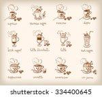 vector doodle set with... | Shutterstock .eps vector #334400645