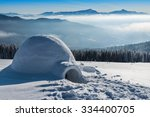 Real Igloo In High Winter...