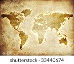 map of the world   Shutterstock . vector #33440674