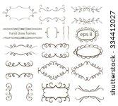 frame set hand draw   Shutterstock .eps vector #334412027