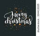 merry christmas and happy new... | Shutterstock .eps vector #334413335