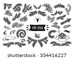 set of vector handdrawn...   Shutterstock .eps vector #334416227