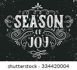 season of joy. christmas retro... | Shutterstock .eps vector #334420004