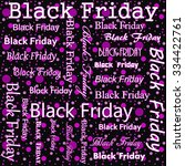 black friday design with pink... | Shutterstock . vector #334422761