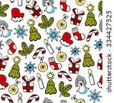 christmas color sketch  vector... | Shutterstock .eps vector #334427525
